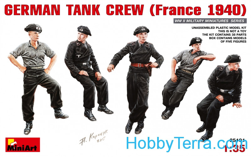 Miniart  35191 German tank crew, France 1940