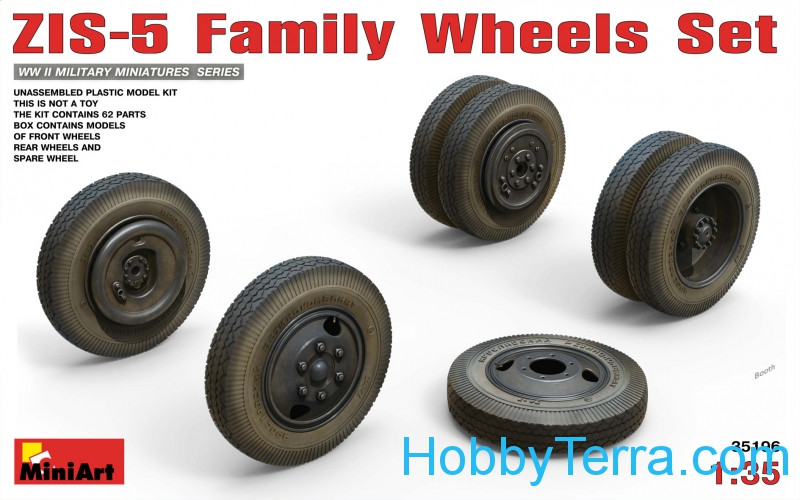 Wheels set 1/35 for ZIS-5 Family trucks