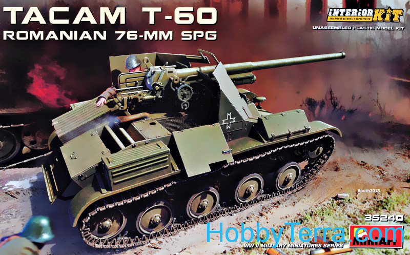 "Miniart  35240 ""TACAM"" T-60 Romanian 76mm self-propelled gun"