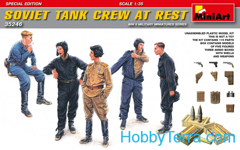 Miniart  35246 Soviet tank crew at rest. Special edition