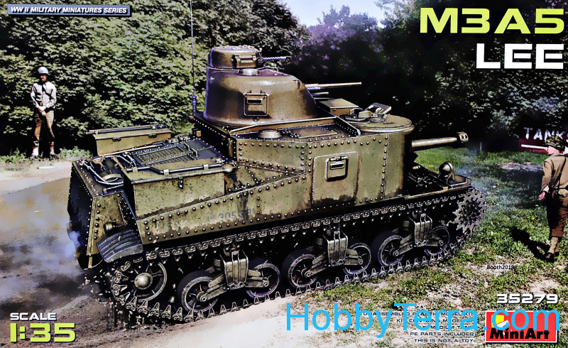 Miniart  35279 US meduim tank M3A5 Lee