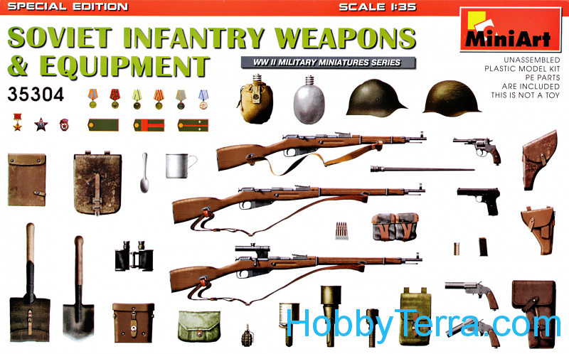 Miniart  35304 Soviet Infantry Weapons & Equipment WW2