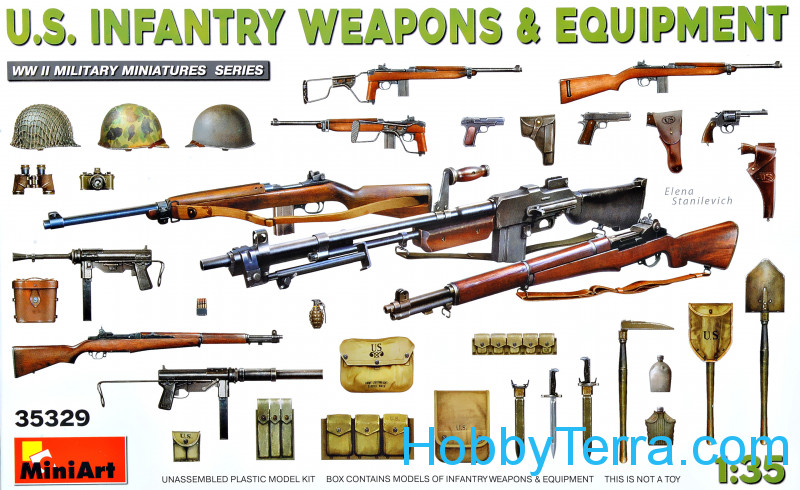 Miniart  35329 U.S. Infantry Weapons & Equipment (WW II)