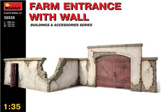 Miniart  35535 Farm entrance with wall