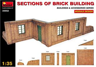 Sections of Brick Building. Module design.