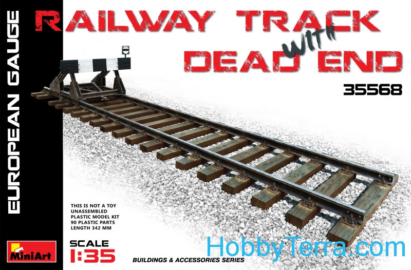Railway track & dead end (European Gauge)