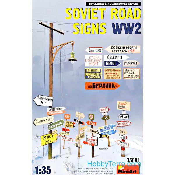 Soviet Road Signs Ww2 Kit MINIART 1:35 MA35601
