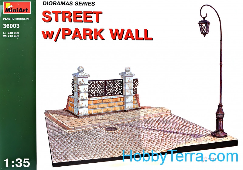 Diorama with park wall