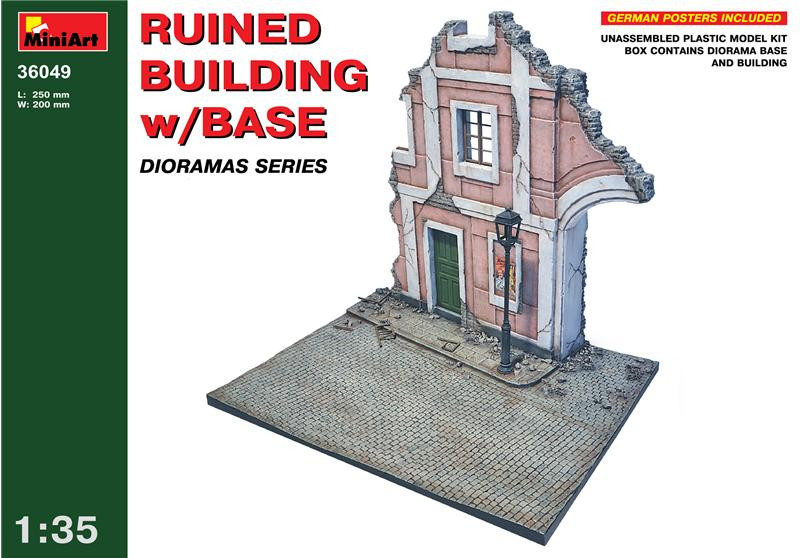 Miniart  36049 Ruined building with base