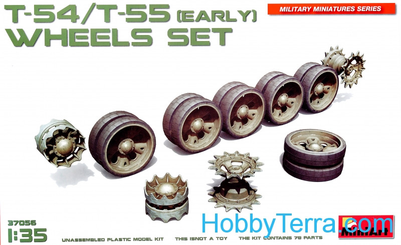 Wheels set for T-54, T-55, early