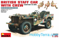British staff car with crew