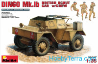 British scout car Dingo Mk.1b with crew