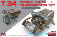 T-34 Engine V-2-34 and transmission set