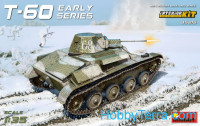 T-60 Soviet light tank, еarly series. Interior kit