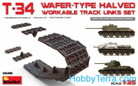T-34 wafer-type halved workable track links set