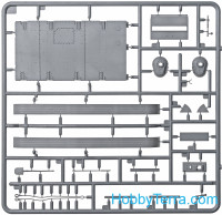 Miniart  35232 T-60 late series, screened (Gorky Automobile Plant). Interior kit