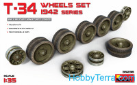 Wheels set 1/35 for T-34 tank, 1942 series