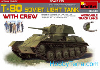 Soviet light tank T-80 with crew. Special Edition