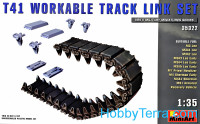 Workable track links set for tank Т41