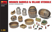 Wooden barrels & village utensils (Plastic model kit)