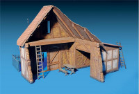 Shed with Wooden Fence (Plastic model kit)