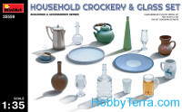 Household crockery ang glass set