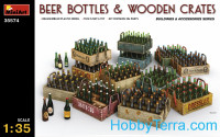 Beer bottles and wooden сrates