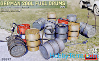 WWII German 200l fuel drum set