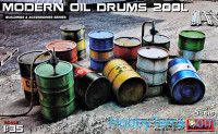 Modern oil drums 200 l
