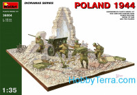Diorama with gun, Poland 1944