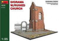 Diorama with ruined church