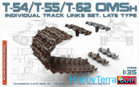 T-54, T-55, T-62 OMSh Individual Track Links set, late type