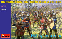 Burgundian knights and archers XV century