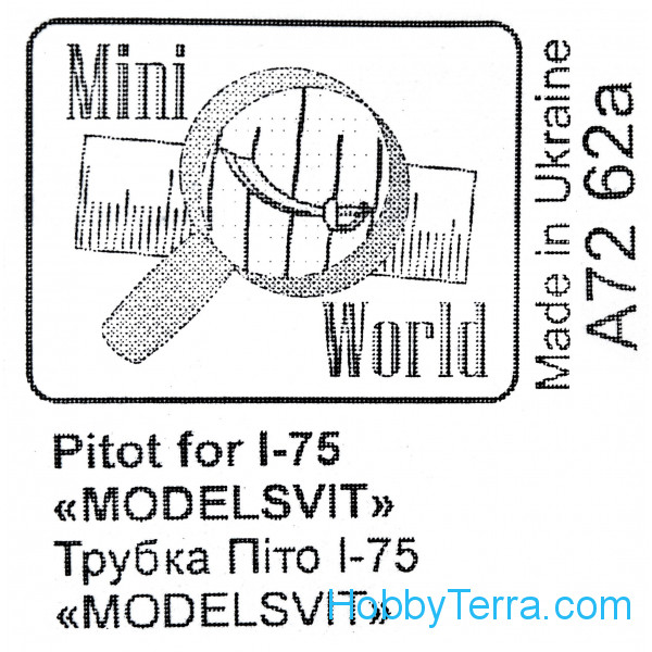 Mini World  7262a Pitot for I-75, for Modelsvit 72029 kit