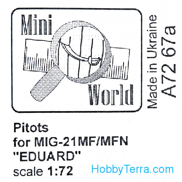 Pitots for MiG-21MF, for Eduard 70141 kit