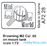 Mini World  7228 Browning M2 cal.50 mount on tank