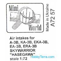Air intakes for A-3B Skywarrior, for Hasegawa kit