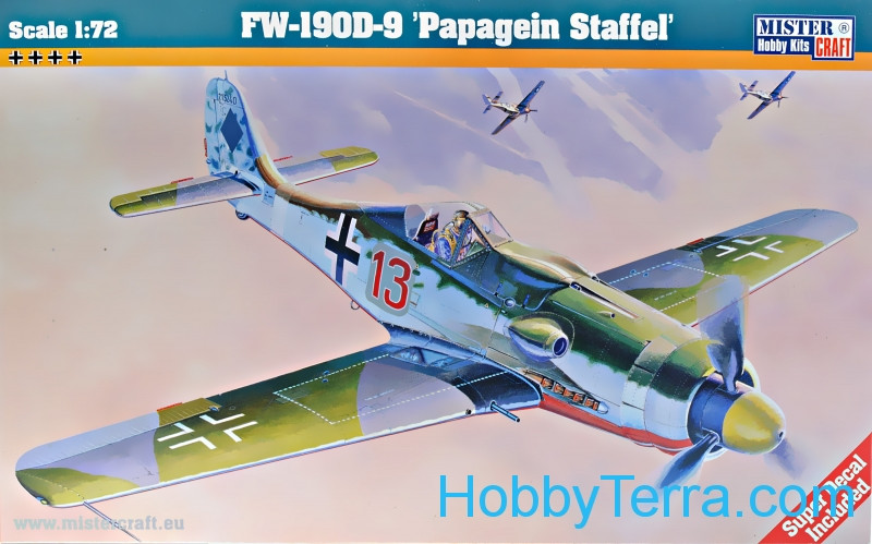 "Mister Craft  C08 FW-190 D-9 ""Papagein Staffel"" fighter"