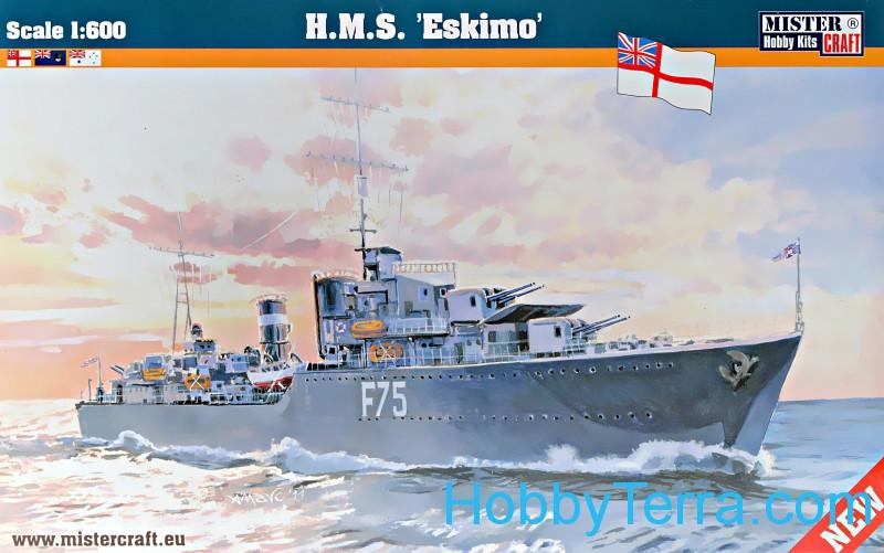 """Scale 1:600 ship. HMS """"Eskimo"""" Mister Craft S92 HobbyTerra.com"""