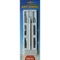 Art knife 10mm with blades (6 pcs)