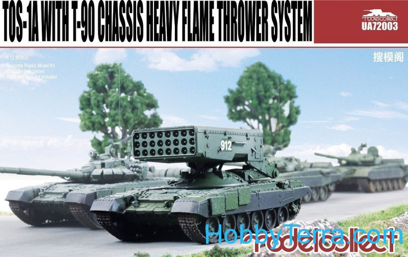 Model Collect  UA72003 TOS-1A With T-90 Chassis Soviet heavy flame thrower system