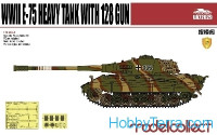 WWII E-75 German heavy tank with 128mm gun