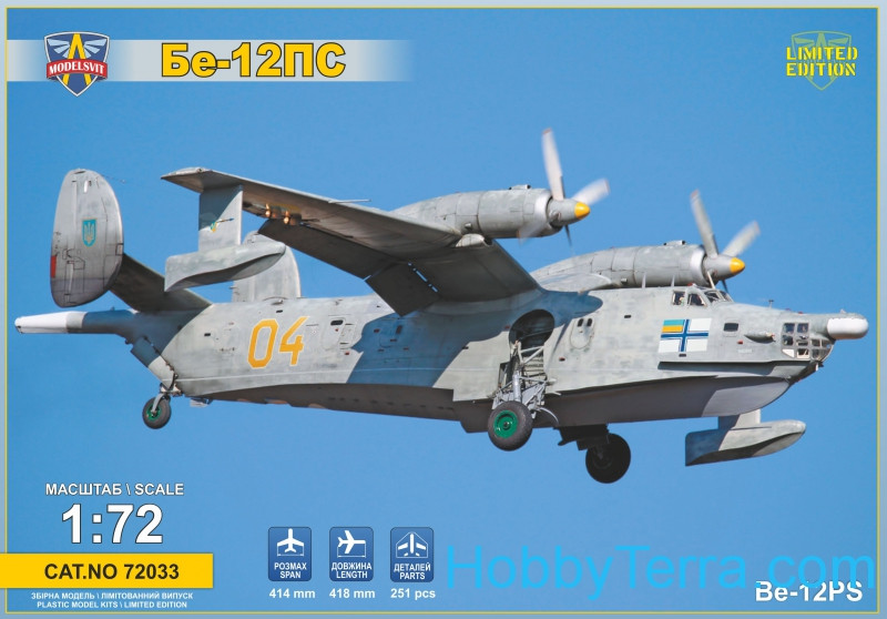 Modelsvit  72033 Beriev Be-12PS maritime search and rescue aircraft