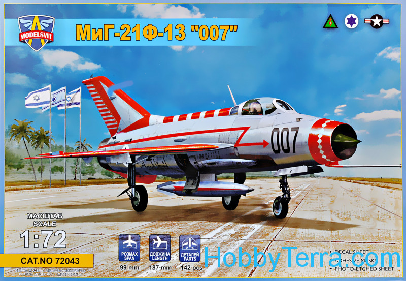 "Modelsvit  72043 MiG-21F-13 ""007"" (Operation ""Diamond"")"