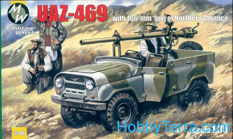 Military Wheels  3508 UAZ-469 with 106-mm gun