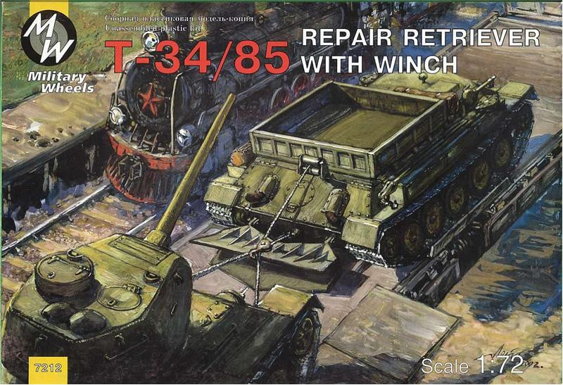 Military Wheels  7212 T-34-85 Soviet WWII repair retriever with winch
