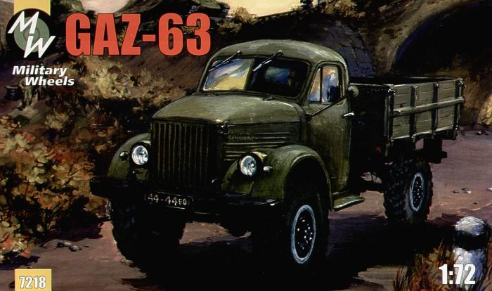Military Wheels  7218 Gaz-63 Soviet truck