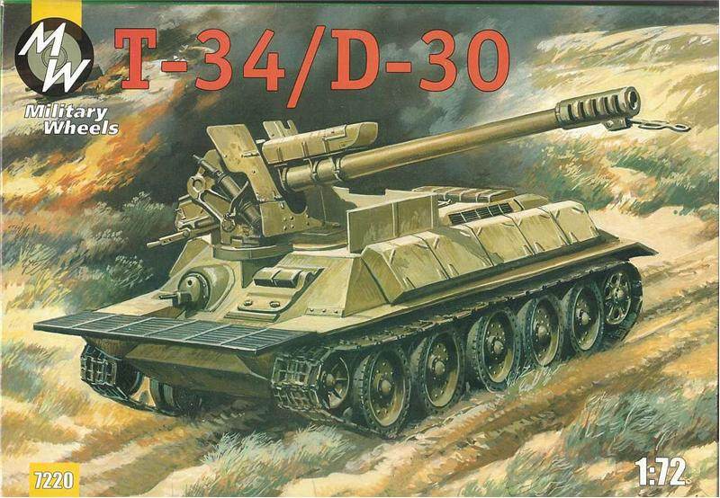 Military Wheels  7220 T-34/D-30 Syrian self-propelled gun