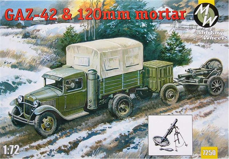 Military Wheels  7250 GAZ-42 & 120mm mortar