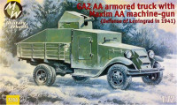 GAZ AA armored truck with Maxim AA gun